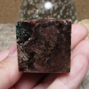 Garnet Cube (#4) Gemstone Crystal Decor